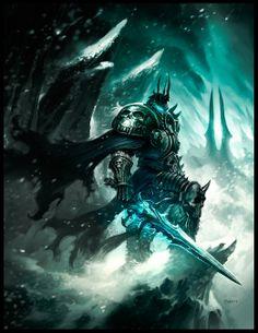 """The Lich King"" by Phroilan Gardner (phroZac) | Marketing art for Blizzard | #Fantasy #Videogames"
