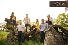 Photos of Jen Stewart Photography - Roseville, CA. Family portraits with adult children & spouses.
