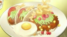 Tacos with Fried Egg  Psycho Pass Episode 6