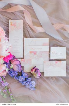 The cheerful spirit of springtime inspired the pastel colour palette used to create this stationery, adorned with a contemporary yet womanly font and shimmery gold accents. Wedding Stationery Inspiration, Wedding Inspiration, Wedding Ideas, Pastel Colour Palette, Pastel Colors, Gift Registry, Pretty Pastel, Gold Accents, Special Day