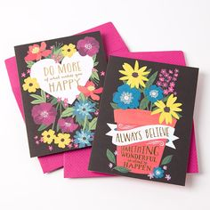 Look on the Bright Side Floral Assorted Boxed Notes