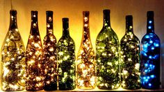 Have you even imagine to create such a nice creation from the waste wine bottles ?