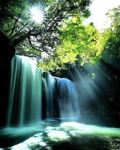 Nabegataki Falls,Oguni Japan,By Aso Kumamoto.