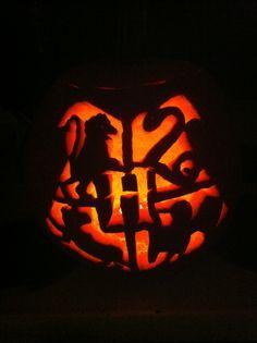 My Hogwarts jack-o-lantern!
