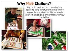 Why math stations in kindergarten and how to make them work!