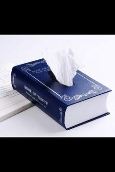 Book tissue holder