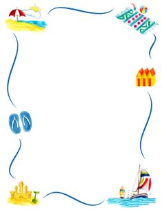 Free beach ball border templates including printable border paper and clip art versions. Borders For Paper, Borders And Frames, Page Borders Free, Printable Border, Printable Labels, Printables, Page Boarders, Border Templates, Scrapbook Frames