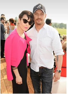 Tom Hardy and Noomi Rapace at  the Audi Polo Challenge at Coworth Park on May 28, 2016 in London, England.