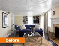 Before & After: 8 Complete Living Room Makeover Projects from Around the Web