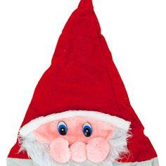 deea24574d9 SANTA HAT WITH PLUSH SANTA FACE-One hat DDI Santa Face