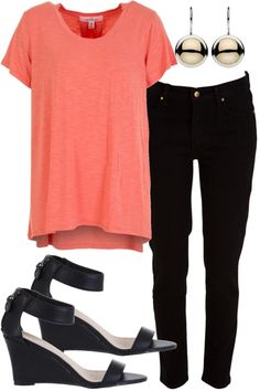 Cool Coral Outfit for a hot summer evening!