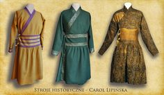 mongolian wool and silk jackets historical costume  nomad jacket  middle age