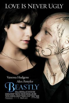 Beastly , starring Alex Pettyfer, Vanessa Hudgens, Mary-Kate Olsen, Justin Bradley. A modern-day take on the 'Beauty and the Beast' tale where a New York teen is transformed into a hideous monster in order to find true love. #Drama #Fantasy #Romance