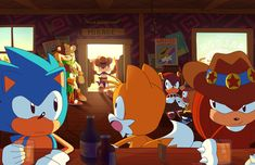 At the Mirage Saloon by Domestic-hedgehog on DeviantArt Sonic The Hedgehog, Hedgehog Movie, Shadow The Hedgehog, Sega Classic, Classic Sonic, Knuckles The Echidna, Marvel Cross Stitch, Sonic The Movie, Fox Boy