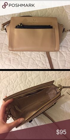 Kate Spade purse Over the shoulder bag gently used and in great condition! I bought it a few weeks ago :) kate spade Bags Crossbody Bags