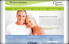 Screenshot of Kaiser Permanente's website by @Etna Interactive: www.kpcosmeticservices.com
