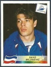 Panini World Cup France & Villa-Savo Milosevic Football Stickers, Football Cards, Football Players, Baseball Cards, Fifa World Cup France, Everton Fc, Badge Logo, Back To Black, American Football