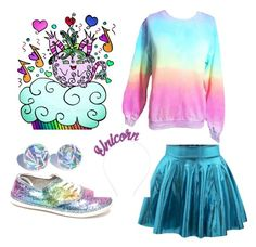 """""""Kawaii  Party on Cloud 9"""" by jennziegirl ❤ liked on Polyvore featuring Crown and Glory"""