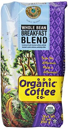 Grocery-The Organic Coffee Company Whole Bean Coffee, 12 Ounce * See this great…
