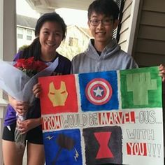This proposal is just super clever. | 22 Seriously Adorable Prom Proposals Impossible To Say No To: