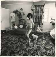 Blaze Starr in her living room, Baltimore, M.D., 1964