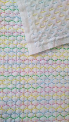 pano de prato Needlework (mais de tartaruga-pastel)
