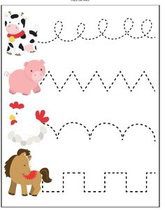 Farm Animal Activities For Kids These Printable Worksheets Are Great For Toddlers, Preschool And Kindergarten Children. They'll Help With Fine Motor Skills, Counting, Letter Recognition And More Preschool Activities Farm Animals Preschool, Animal Activities For Kids, Farm Animal Crafts, Animal Crafts For Kids, Toddler Learning Activities, Preschool Learning Activities, Preschool Crafts, Homeschool Kindergarten, Preschool Farm Crafts
