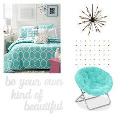 """Teal blue"" by jessicamaraea on Polyvore featuring interior, interiors, interior design, home, home decor, interior decorating, Martha Stewart and PBteen"