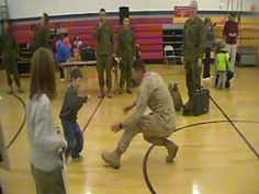 A returning marine gets a pleasant surprise when his son stricken with cerebral palsy walks toward him.....awww