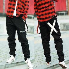 Drop Crotch Pants Men Hip Hop Fashion Dance Dresses Swag Outfits Street Urban Women Harems