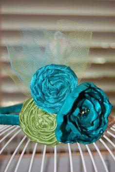 M2M Matilda Jane hair sprinkles fabric flower by graciebluboutique, $16.00