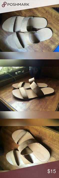 Nude sandals Never been worn  In perfect condition  The straps are suede  Very comfortable just didnt like them  Willing to swap  Willing to negotiate price Forever 21 Shoes Sandals