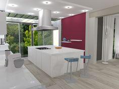 Dans un pavillon à Saint-Brice-sous-Forêt (95), un intérieur contemporain (3D), par Céline Lortholary, notre architecte d'intérieur de Paris