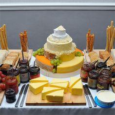 Wedding ideas food buffet cheese display ideas for 2019 Fruit Wedding Cake, Wedding Cake Toppers, Wedding Cakes, Cheese Table, Cheese Platters, Wheel Cake, Cheese Display, Wedding Cake Designs, Wedding Ideas