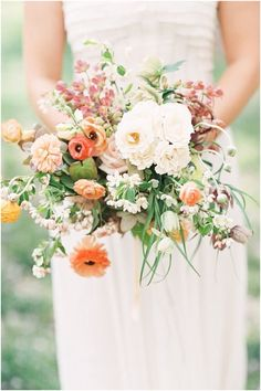 24 Summer Wedding Bouquet Ideas >> Summer are lucky to have the most beautiful flowers in season for their bouquet. Whichever summer wedding bouquet you choose, be sure your it reflects your personality. See more wedding bouquet ideas . Country Wedding Bouquets, Spring Wedding Bouquets, Boho Wedding Bouquet, Rustic Boho Wedding, Floral Wedding, Wedding Colors, Spring Bouquet, Wildflower Wedding Bouquets, Spring Weddings