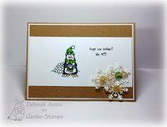 Hambo Stamps Penguin Snowball digi by Deborah Anton