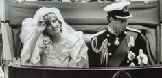 July 29, 1981:  Lady Diana Spencer marries Prince Charles at St. Paul's Cathedral in London. The Prince and Princess of Wales arriving at Buckingham Palace .