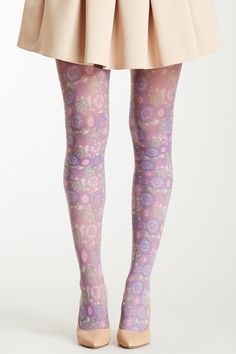 Anna Sui Floral Print Thigh-High Tight by Anna Sui & More on @HauteLook