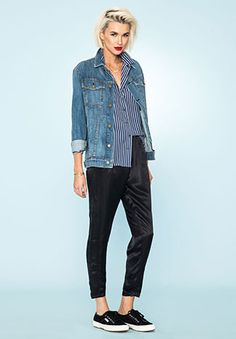 casual jean jacket
