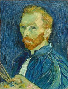 Autoportrait par Vincent van Gogh, 1889.