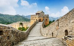 Download wallpapers The Great Wall of China, Monument of architecture, wonder of the world, China