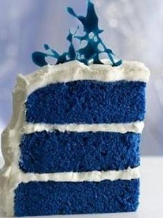 recipe: blue velvet cake  Might be cool for the wedding cake ... will definitely have to bake one up and try it out.