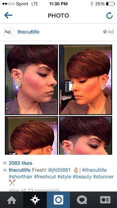 Women's short hair