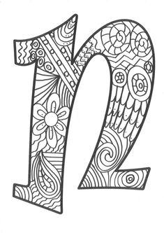 The super original mandaletras learn the alphabet - Educational Images Alphabet Letter Crafts, Alphabet Print, Alphabet And Numbers, Alphabet Soup, Easy Coloring Pages, Coloring Pages To Print, Coloring Letters, Coloring Books, Paisley Flower