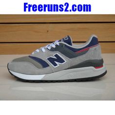 competitive price 7f486 8d968 New Balance CM997HWB Gris Navy Bleu rouge Men Sneakers Cheap New Balance, New  Balance Shoes
