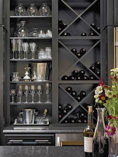 Wine Rack - Wet Bar - Built-In Bookshelf - Home Organization - Interior Design #interiordesign