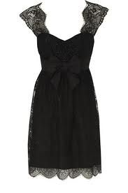 Little Black lace bordered Dress! <3