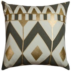 Rizzy Home Rachel Kate Gatsby Geometric Square Throw Pillow - x - JCPenney Geometric Throws, Geometric Pillow, Geometric Shapes, Modern Throw Pillows, Accent Pillows, Decorative Throw Pillows, Pillows Online, Joss And Main, Pillow Covers