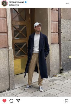 Navy Coat, Latte, Dads, Normcore, Studio, Outfit Ideas, Outfits, Instagram, Dresses
