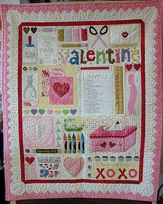 Darling Valentine quilt by Lori Holt